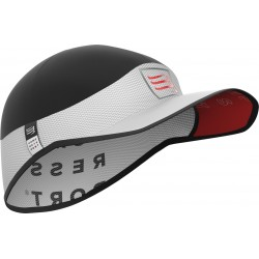 Gorra Compressport Pro Racing Ultralight blanco negro
