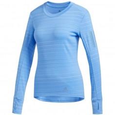 Camiseta Adidas Rise Up N Run Azul OI19 Mujer
