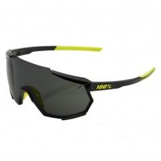 Gafas 100% Racetrap Negro Gloss - Lente Ahumado