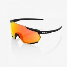 Gafas 100% Soft Tact Negro - Hiper Rojo Multilayer Lente Mirror