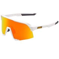 Gafas 100% S3 Soft Tact Blanco - Hiper Rojo Multilayer Lente Mirror
