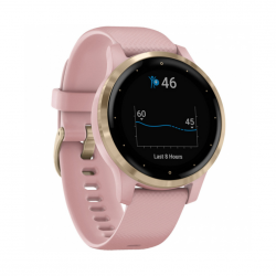 Garmin Vivoactive 4S Rose with Light Gold Hardware