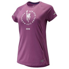 Camiseta New Balance New York City Maratón 2019 ICE Púrpura Mujer