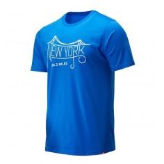 Camiseta New Balance New York Maratón 2019 Graphic Azul Hombre