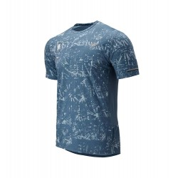 Camiseta New Balance New York City Maratón 2019 ICE Cian Hombre