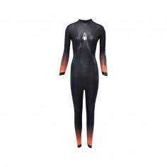 Traje de Neopreno Aqua Sphere Pursuit Negro Naranja Mujer