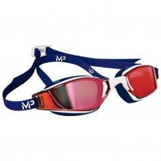 Gafas de Natación Michael Phelps Xceed Titanium Mirror Blanco Azul