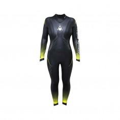 Traje de Neopreno Aqua Sphere Race 2.0 Mujer Negro Amarillo