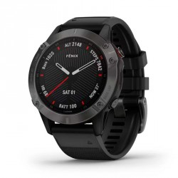 Garmin Fenix 6 Charcoal Gray Sapphire with Black Strap