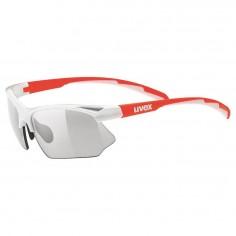 Gafas Uvex Sportstyle 802 Vario Blanco Naranja Lente Ahumado
