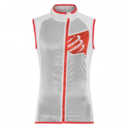 Chaleco Trail Compressport Hurrican Blanco