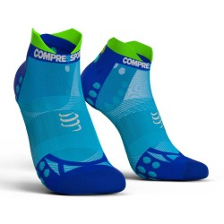Calcetines Pro Racing V3 Ultra Light Compressport Azul Fluo