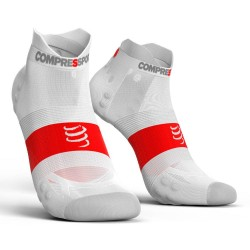 Calcetines Pro Racing V3 Ultra Light Compressport Blanco
