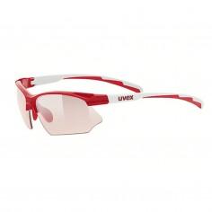 Gafas Uvex Sportstyle 802 Vario Rojo Blanco Lente Ahumado