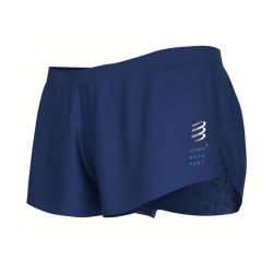 Pantalón Corto Compressport Racing Split Overshort Azul