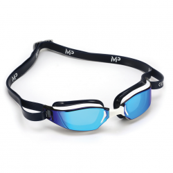 Michael Phelps Xceed Dark Blue Swimming Goggles mirrored lenses