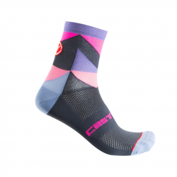 Calcetines Castelli Unlimited Morado Rosa Mujer