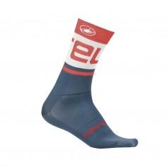 Castelli Free Kit 13 Blue Red Unisex Socks
