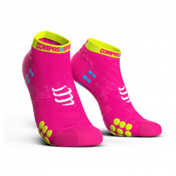 Calcetines Cortos Compressport Pro Racing v3 Run Rosa