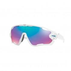 Gafas Oaley Jawbreaker Polished Blanco Prizm Sapphire