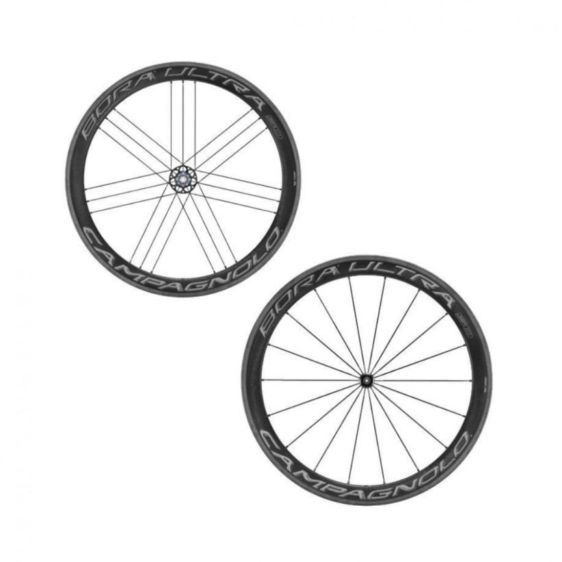 Campagnolo Bora Ultra 50 Wheelset Dark Label Tire 2018