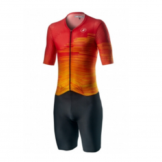 Castelli Integral PR Rj Fiery Trisuit Red Orange Man
