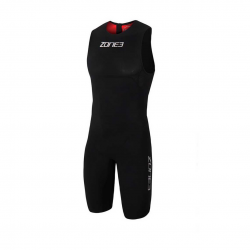 Zone3 Streamline Sleeveless Wetsuit Red Black Mens