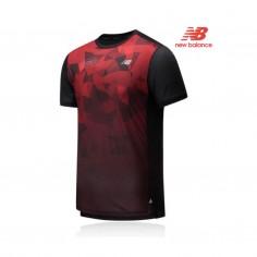 Camiseta New Balance PR IMPACT RUN SS London Marathon Rojo Negro PV20 Hombre