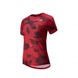Camiseta New Balance P IMPACT RUN SS London Marathon Rojo Negro PV20 Mujer