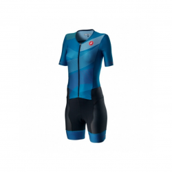 Tritraje Castelli Integral Free Sanremo 2 W Suit Short Sleeve Azul Mujer