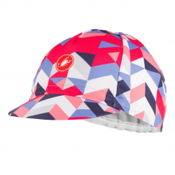 Castelli Cap Pink Red White Lilac