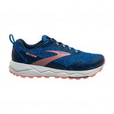 Zapatillas Brooks Divide Azul Naranja PV20 Mujer