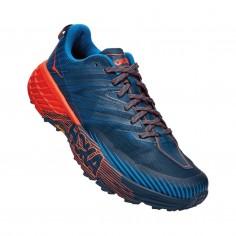 Zapatillas Hoka One One Speedgoat 4 Azul Naranja PV20 Hombre