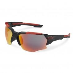 KOO Orion Sunglasses Black Red Mirror Lens