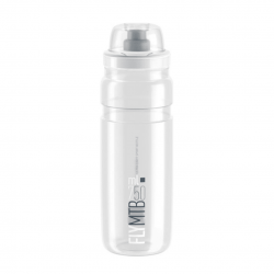 Bidón Elite Fly MTB Transparente Logo Gris 750 ML