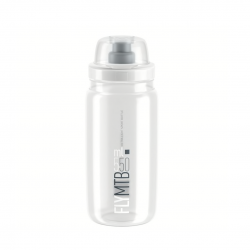 Bidón Elite Fly MTB Transparente Logo Gris 550 ML