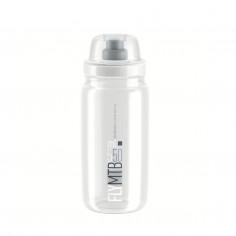 Elite Fly MTB Transparent Bottle Gray Logo 550 ML