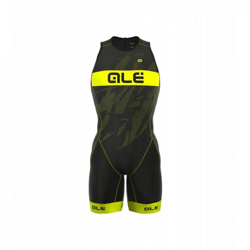 Tritraje Alé Olympic Record hombre negro/amarillo