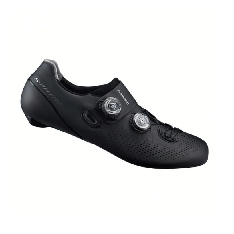 Zapatillas de carretera Shimano RC9 S-PHYRE Negro