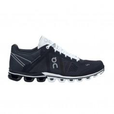 On Cloudflow Shoes Black White Women