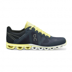 Zapatillas On Cloudflow Azul Oscuro Amarillo Mujer