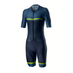 Mono de ciclismo Castelli Sanremo 4.0 Speed Suit Azul Oscuro
