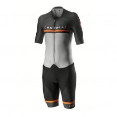 Mono de ciclismo Castelli Sanremo 4.0 Speed Suit Gris Naranja