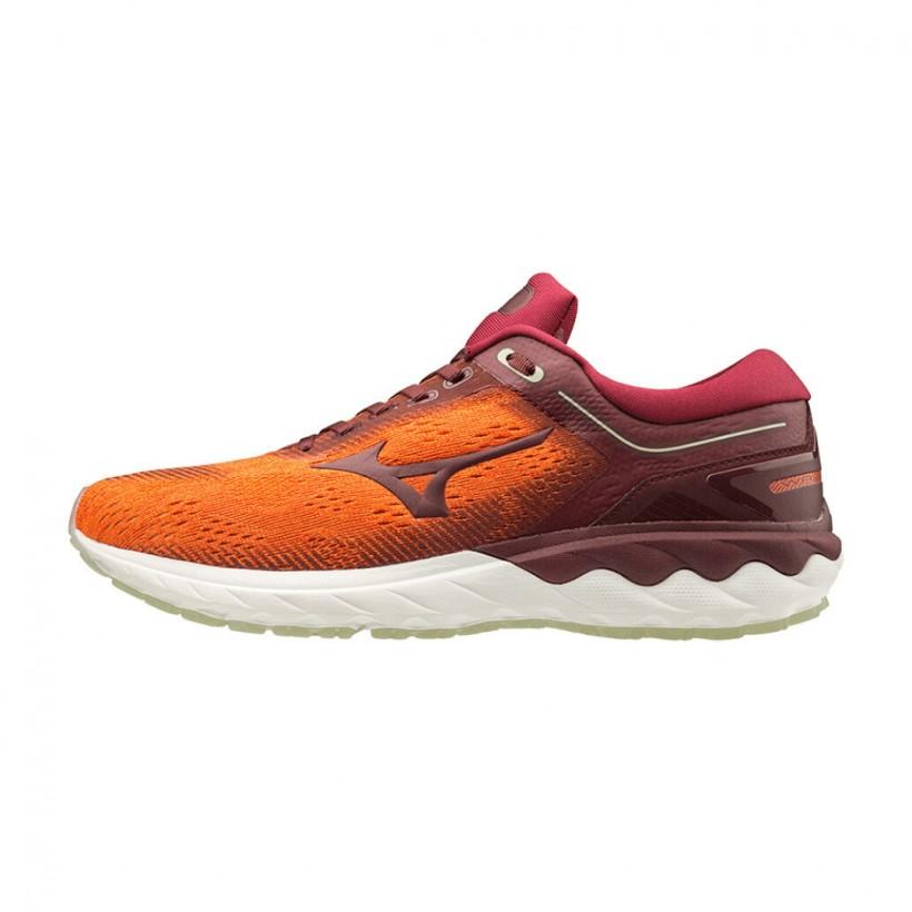 Zapatillas Mizuno Wave Skyrise Rojo Naranja
