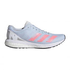 Zapatillas Adidas Adizero Boston 8 Azul Celeste Rosa PV20 Mujer