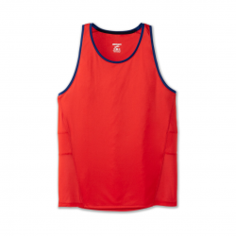 Brooks Stealth Singlet Red Blue T-shirt