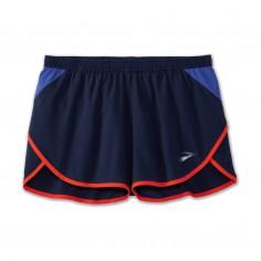 """Pantalón corto Brooks Hightail 3"""" Split Azul Rojo"""