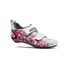 Zapatillas Sidi T5 Air Carbon Rosa Blanco Mujer Triatlón