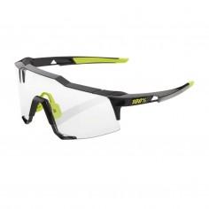 Gafas 100% Speedcraft Polished Black - Lentes Fotocromáticas