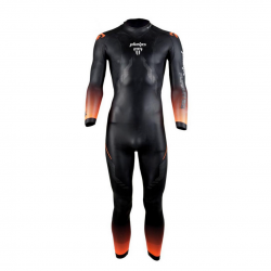 Michael Phelps Pursuit Black Orange Man Wetsuit
